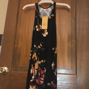 Floral Bohemian Maxi Dress - size xs-s